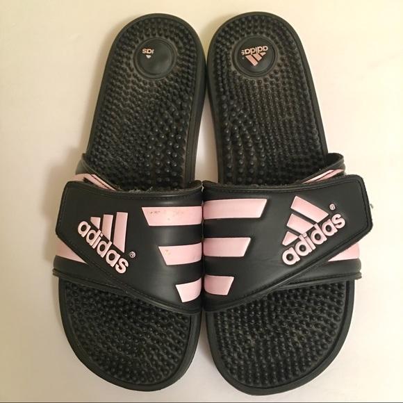 Adidas Adissage Sandals Pink Black